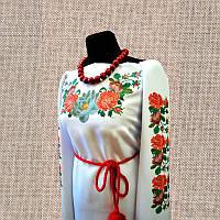 Женская сорочка бисером (нитками) ВМ-СЖ-37. Заготовка под вышивку.