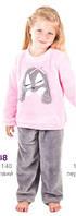 Пижама детская теплая зимняя махровая флис для девочки Wiktoria 348
