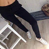 Женские спортивные однотонные штаны брюки чёрные 42 44 46 48 батал 50-52 52-54 54-56