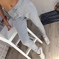 Женские спортивные однотонные штаны брюки серые 42 44 46 48