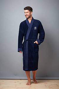 Чоловічий халат L&L FABIO  бамбук-велюр