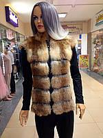 Жилетка из лисы с кожей, фото 1