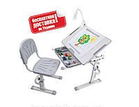 Растущий комплект парта+стул для дома ТМ Cubby KARO Grey