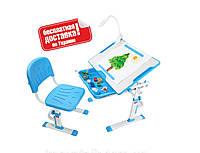 Растущий комплект парта+стул для дома ТМ Cubby KARO Blue
