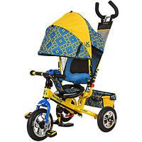 Детский трехколесный велосипед LE-3-02UKR желто-голубой, фото 1
