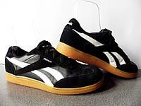 Кроссовки Reebok Classic Vienna 100% ОРИГИНАЛ р-р 38 (24,5см) (Б/У, СТОК) чёрные nike adidas