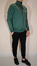 Мужской спортивный костюм Reebok (размеры 44-54, трикотажный) - зеленый, фото 2