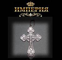 Крест православный мужской серебряный