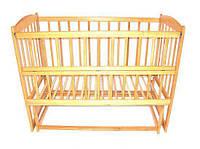 Детская кровать качалка с открывающим боком на шарнирах, 120х60 ТМ ViKIDim