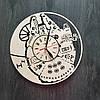Настенные часы из натурального дерева «Тысячелетний Сокол» (40 см) [Натуральное дерево, Открытые]