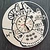Настенные часы из натурального дерева «Тысячелетний Сокол» (40 см) [Натуральное дерево, Открытые], фото 2