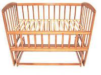 """Кровать качалка с открывающим боком на шарнирах """"фигурная"""", 120х60 ТМ ViKIDim"""