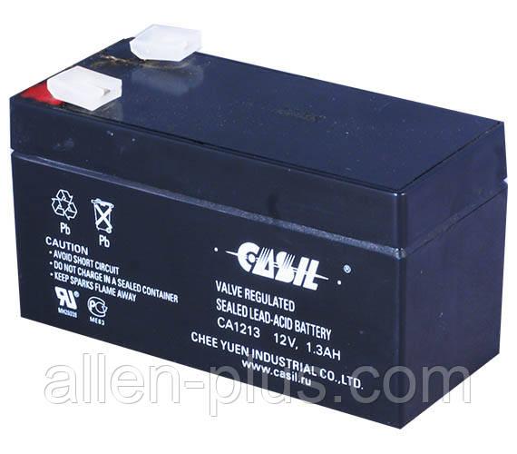 Аккумулятор свинцово-кислотный CASIL CA1213, 12V / 1.3A