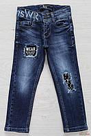 Джинсы синие с декоративными заплатками для малыша (122 см.)  A-yugi Jeans 2125000529578