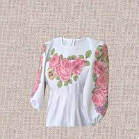 Сорочка для девочки бисером (нитками) ВМ-ДС-26. Заготовка под вышивку детской сорочки.