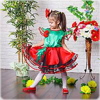 Сценическое детское платье мака, фото 1