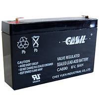 Аккумулятор свинцово-кислотный CASIL CA690, 6V / 9.0A