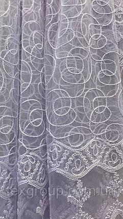 Тюль фатиновый белый VST-10085, фото 2