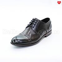 Мужские коричневые туфли модельные , фото 1