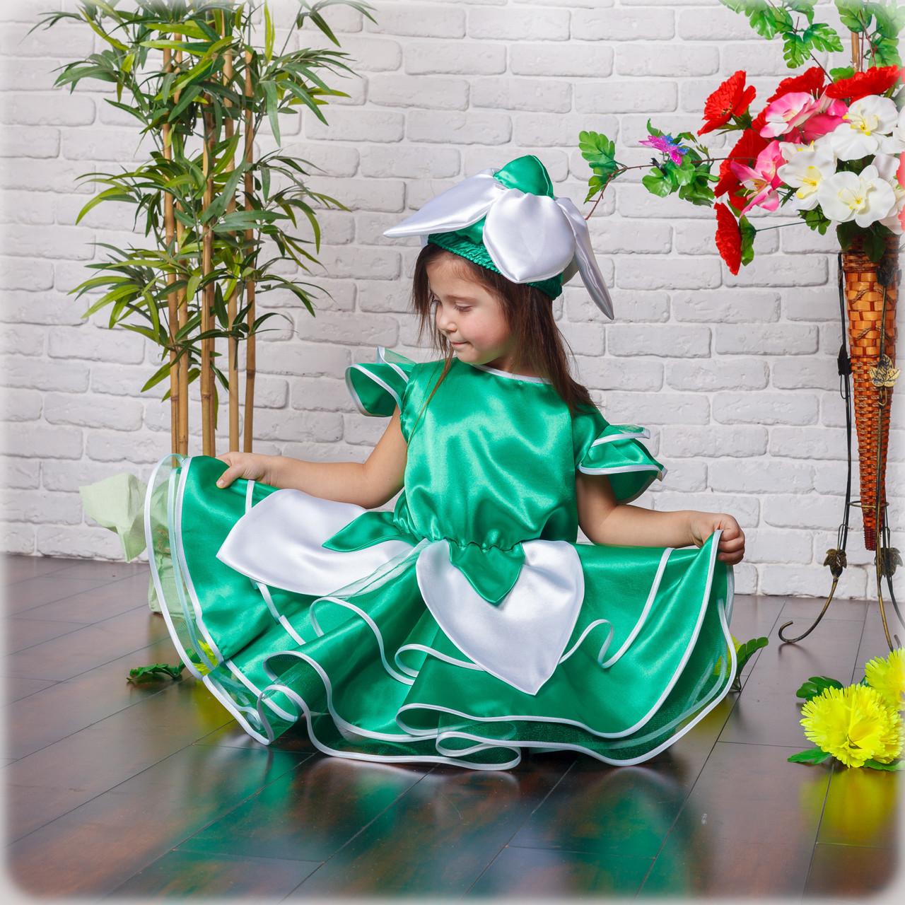 """Детский карнавальный костюм """"Подснежник"""" для девочки"""
