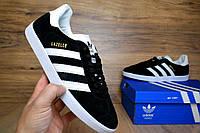 Мужские кроссовки Adidas Gazelle  черные