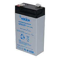 Аккумулятор свинцово-кислотный MERLION GP632F1, 6V / 3.2A