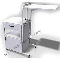 Столик-тумбочка прикроватная СТ-ТП-П, Сталь с полимерным покрытием, ДСП. Габаритные размеры со сложенной по