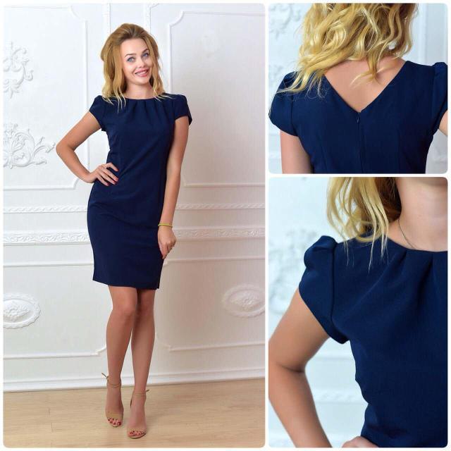 Платье, модель 716, цвет - темно синий