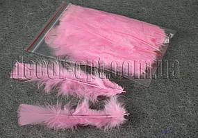 Перья розовые 11-15 см 50 шт