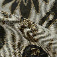 Гобелен ткань, вензель, бежево-коричневый