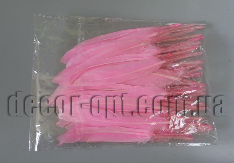 Перья розовые 12-15 см 50шт