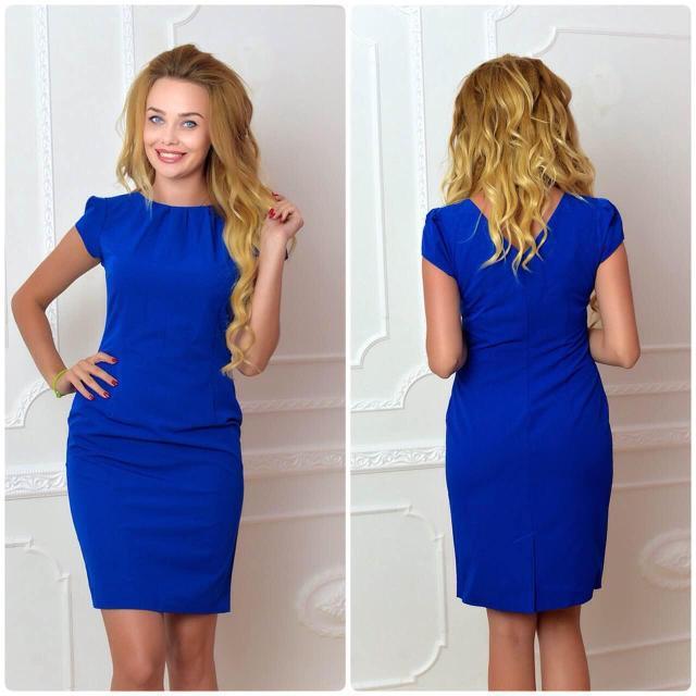 Платье, модель 716, цвет - электрик