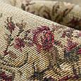 Гобелен ткань, цветочный вензель, тёмно-бежевый, фото 2