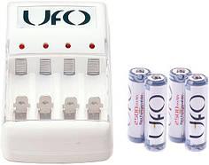 Зарядное устройство UFO KN-8003 + 4 Аккумулятора UFO HR6 Ni-MH 2500mAh PHOTO