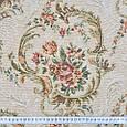 Гобелен ткань, цветочный вензель, белый, фото 3