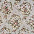 Гобелен ткань, цветочный вензель, белый, фото 2