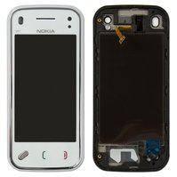 Сенсорний екран для мобільного телефону Nokia N97 Mini, з передньою панеллю, білий