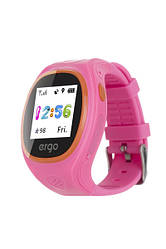 Детские часы с GPS трекером ERGO GPS Tracker Junior Color J010 Pink