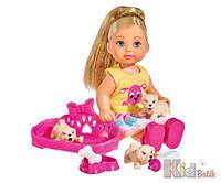 """Набор с куклой Еви """"Маленькие любимцы"""" Simba 4052351018094"""