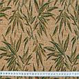 Гобелен ткань, бамбук, бежево-зелёный, фото 3