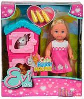 Кукольный набор Еви и домик кроликов Simba 4052351019206