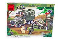 """Конструктор """"Военный грузовик"""" 308 деталей Brick-811"""
