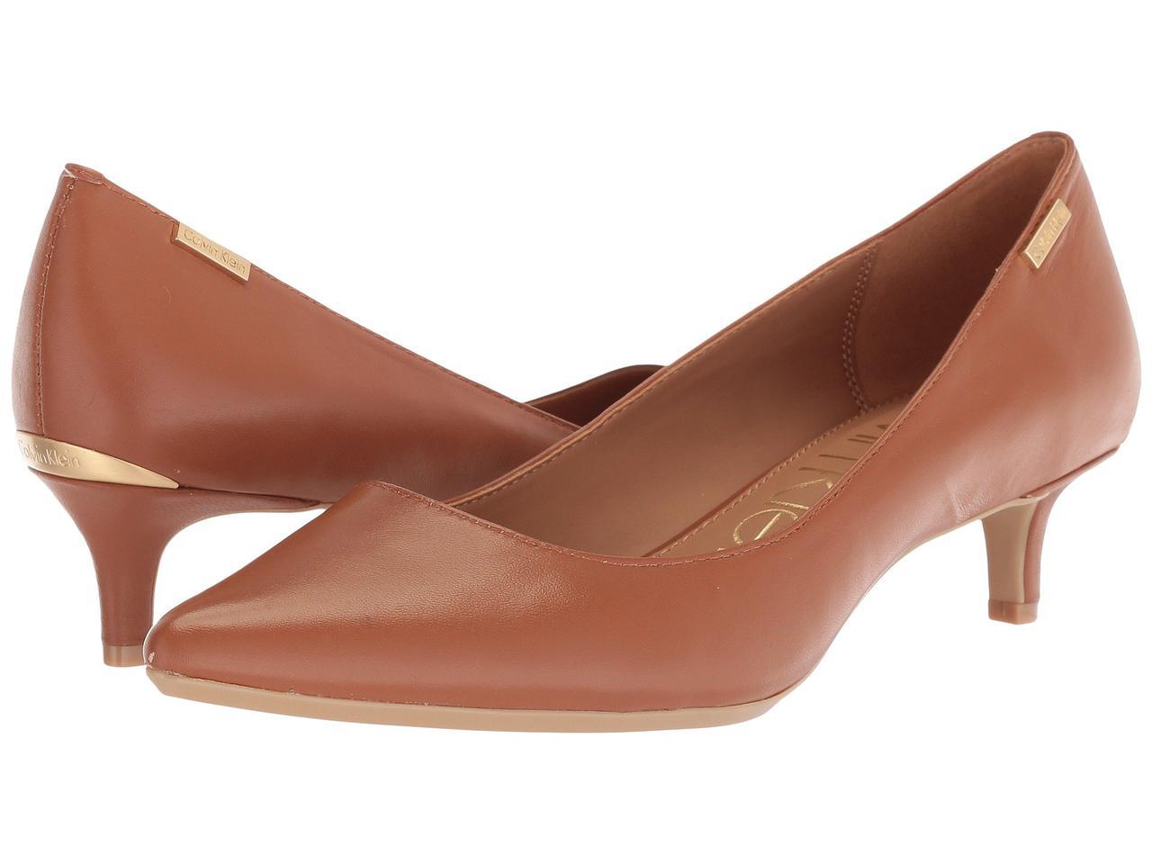 5fd433be2 Туфли на каблуке (Оригинал) Calvin Klein Gabrianna Pump Cognac - TopUSA