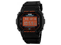 Часы для спортсмена Skmei 1134 с LED подсветкой  Оранжевая подсветка