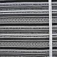 Гобелен ткань, орнамент полоски, чёрно-белый, фото 3