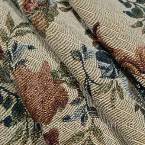 Гобелен ткань, цветочный принт