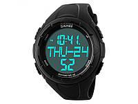 Спортивні водонепроникні годинники Skmei тисяча сто двадцять дві з LED підсвічуванням  Чорний