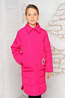 Куртка-пальто «Алиса» весенне-осеннее на девочку 8-12 лет, коллекция 2018, р. 34-42/128-152 см ТМ MANIFIK Фуксия