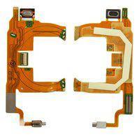 Шлейф для мобільного телефону Sony Ericsson T707, динаміка, з компонентами
