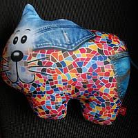 Мягкая игрушка-антистресс  Кот джинсовый.